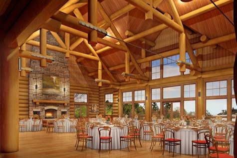 An internal rendering of Canada House at Killarney Mountain Lodge